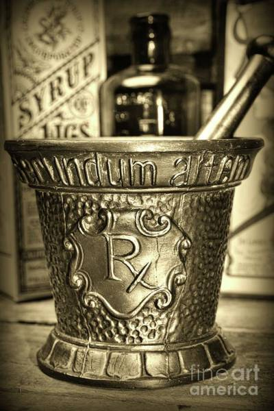 Wall Art - Photograph - Pharmacist-secundum Artem Sepia by Paul Ward