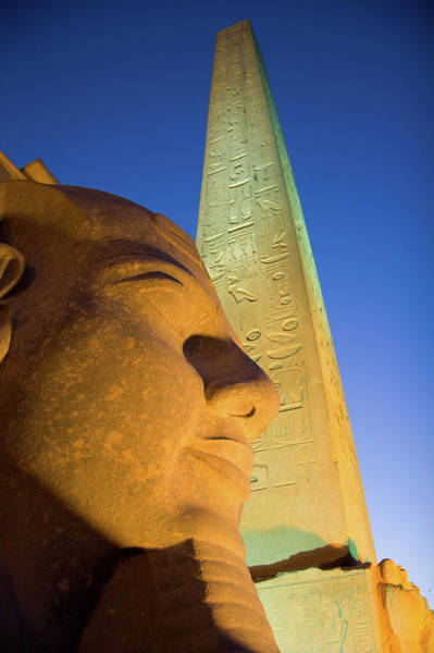 Ancient Egypt Photograph - Pharoah Ramses II At Luxor Egypt by David Smith