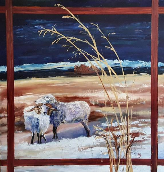 Phil And Alice Navajo Sheep    38 Art Print