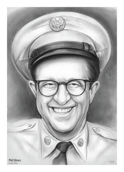 Drawing - Phil Silvers As Sgt Bilko by Greg Joens