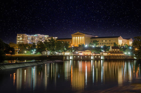 Photograph - Philadelphia Art Museum Under The Stars by Bill Cannon