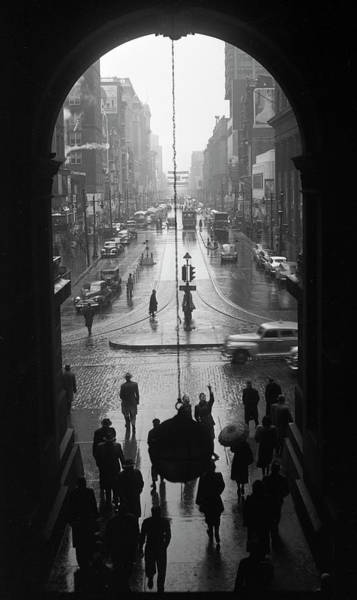 Photograph - Philadelphia City Hall, East Portal, 1950 by Lawrence S Williams
