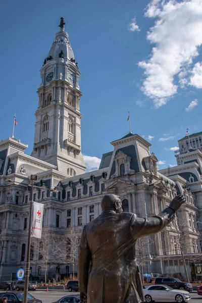 Wall Art - Photograph - Philadelphia Cityhall And Rizzo by Bill Cannon