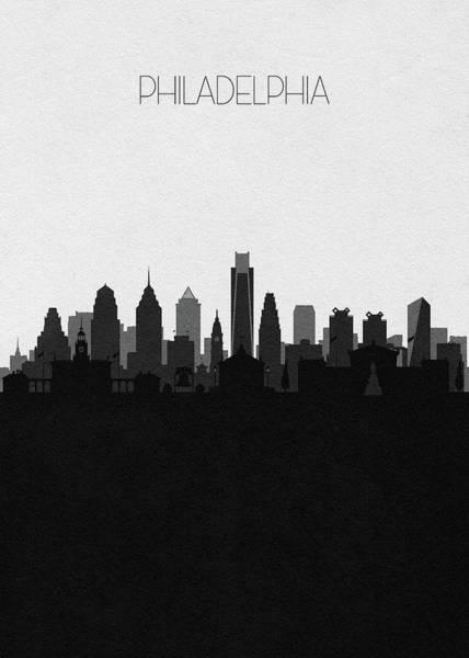 Souvenir Digital Art - Philadelphia Cityscape Art V2 by Inspirowl Design