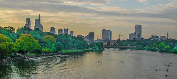 Photograph - Philadelphia Cityscape From The Girard Avenue Bridge by Bill Cannon