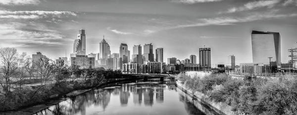 Photograph - Philadelphia Cityscape From The Schuylkill River In Black And Wh by Bill Cannon