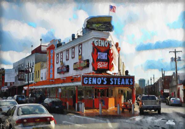 Digital Art - Philadelphia - Genos Steaks - Rendoring by Bill Cannon