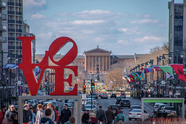 Wall Art - Photograph - Philadelphia Is The C Ity Of Brotherly Love by Bill Cannon