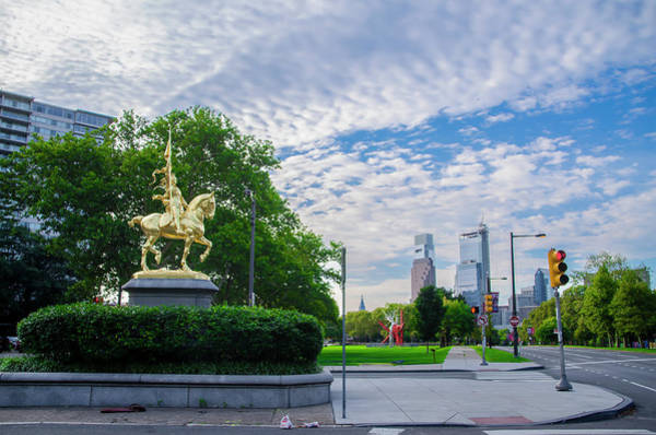 Wall Art - Photograph - Philadelphia - Joan Of Arc Statue by Bill Cannon
