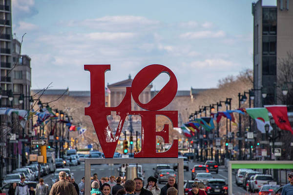 Wall Art - Photograph - Philadelphia - Love On The Parkway by Bill Cannon