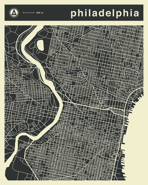 Philadelphia Map 3 Art Print