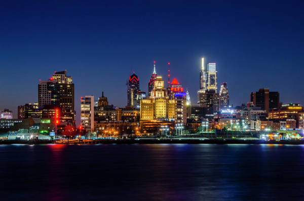 Wall Art - Photograph - Philadelphia Night On The Waterfront by Bill Cannon