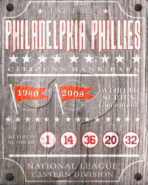Citizens Bank Park Digital Art - Philadelphia Phillies Rustic Sign by Aswego Arts