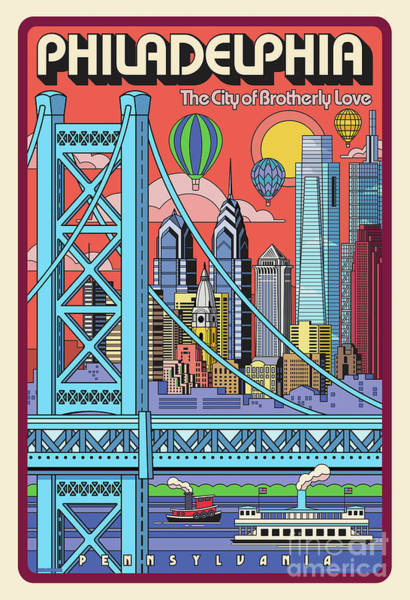 Wall Art - Digital Art - Philadelphia Poster - Pop Art - Travel by Jim Zahniser
