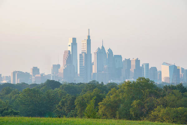 Photograph - Philadelphia Skyline From On Top Of Georges Hill by Bill Cannon
