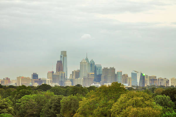 Photograph - Philadelphia Skyline - From West Fairmount Park by Bill Cannon