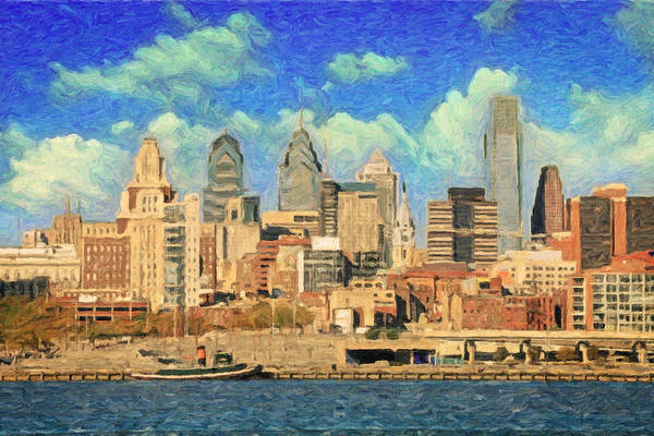 Wall Art - Painting - Philadelphia Skyline by Zapista Zapista