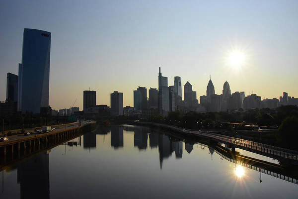 Wall Art - Photograph - Philadelphia Sunrise On The South Street Bridge by Bill Cannon
