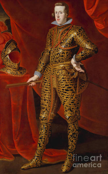 Iv Wall Art - Painting - Philip Iv In Parade Armor by Gaspar de Crayer