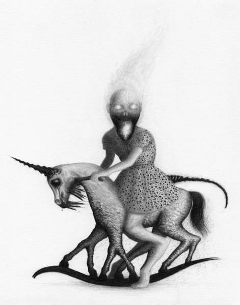 Drawing - Philippa The Crackling Rider - Artwork  by Ryan Nieves