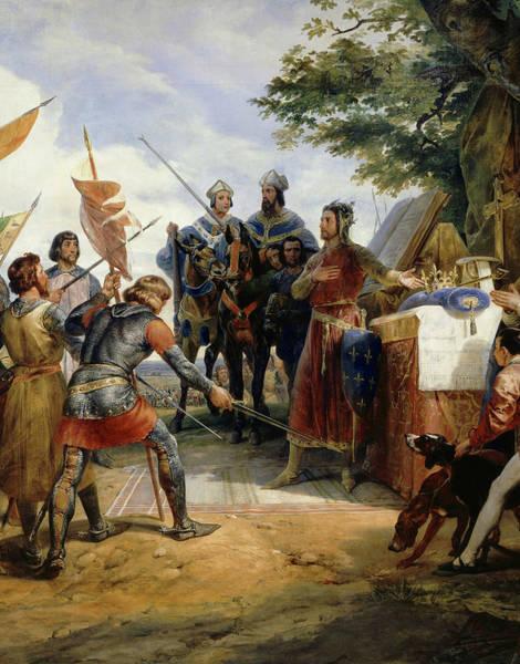 Wall Art - Painting - Philippe Auguste A La Bataille De Bouvines, 1214 by Emile Jean Horace Vernet