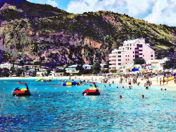 Photograph - Philipsburg Sint Maarten Beach by Susan Savad