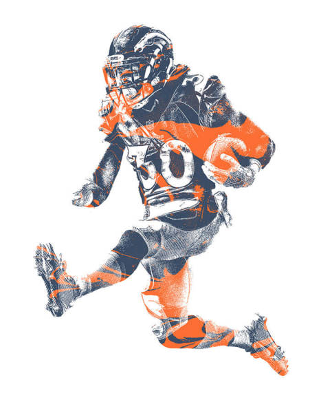 Super Bowl Mixed Media - Phillip Lindsay Denver Broncos Pixel Art 2 by Joe Hamilton