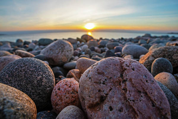 Photograph - Phillips Beach Sunrise Rock Detail Swampscott Ma by Toby McGuire
