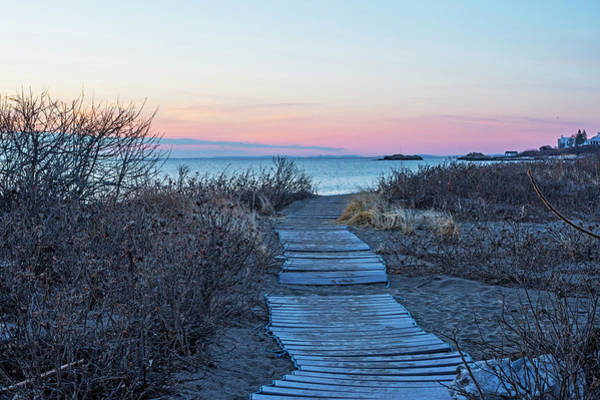 Photograph - Phillips Beach Walkway At Sunrise Swampscott Ma by Toby McGuire