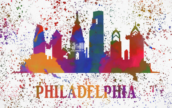 Wall Art - Painting - Philly Color Splash by Dan Sproul