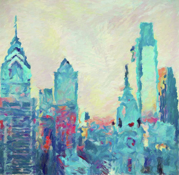 Wall Art - Painting - Philly by Dan Sproul