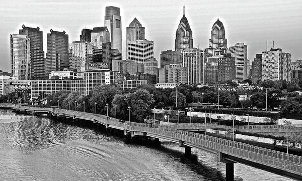 Liberty Bridge Photograph - Philly In Charcoal by Frozen in Time Fine Art Photography
