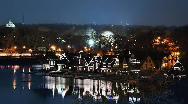 Photograph - Philly Lights - Boathouse Row by Bill Cannon