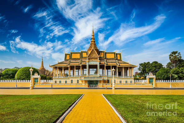 Daytime Wall Art - Photograph - Phnom Penh Tourist Attraction And by Dmitry Rukhlenko