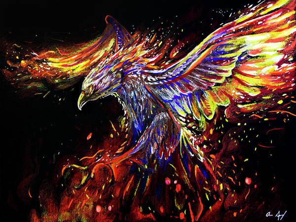 Drawing - Phoenix by Aaron Spong