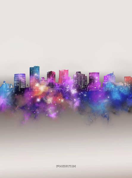 Wall Art - Digital Art - Phoenix Skyline Galaxy by Bekim M