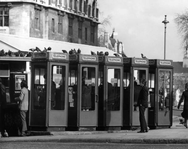 London Phone Booth Wall Art - Photograph - Phone Boxes by George Hales