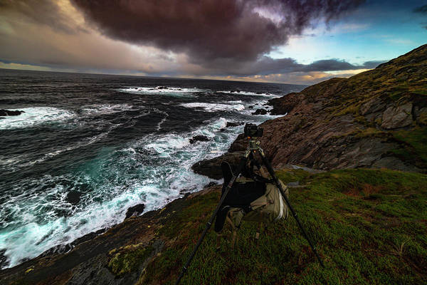 Photo Gear On Landscape Shot Art Print