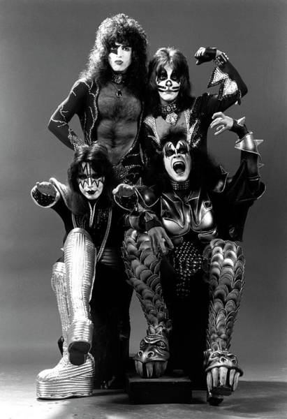 Peter Criss Wall Art - Photograph - Photo Of Ace Frehley And Peter Criss by Fin Costello