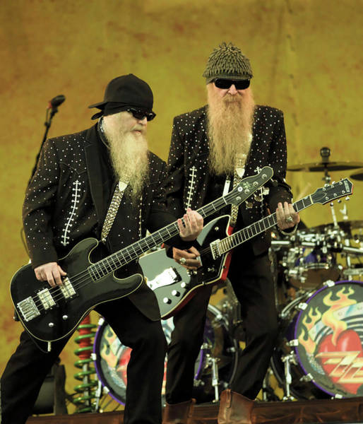 Photograph - Photo Of Billy Gibbons And Dusty Hill by David Redfern
