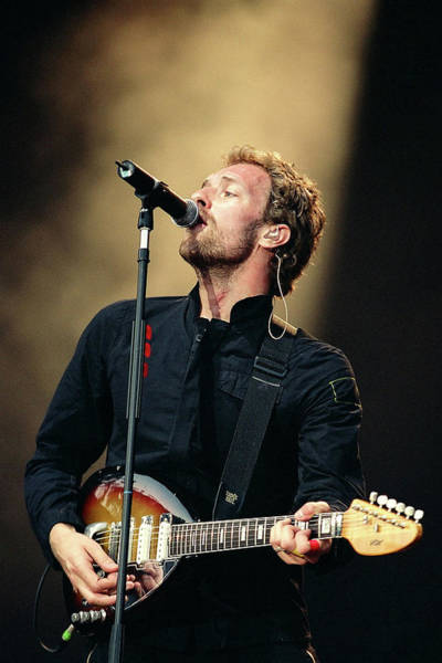 Coldplay Photograph - Photo Of Chris Martin And Coldplay by Neil Lupin