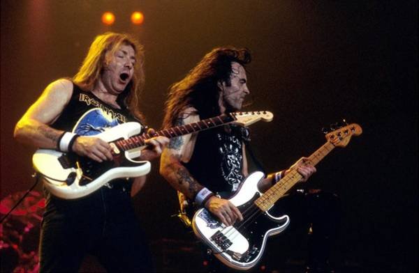 Iron Maiden Wall Art - Photograph - Photo Of Dave Murray And Steve Harris by Graham Wiltshire