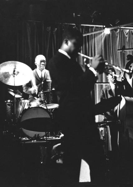 Donald Photograph - Photo Of Donald Byrd & Art Blakey by Herb Snitzer