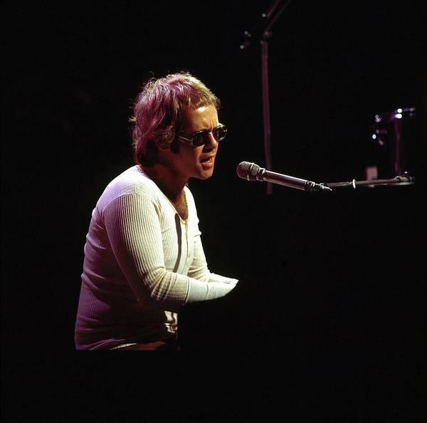 Elton John Photograph - Photo Of Elton John by David Redfern