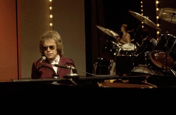 Elton John Photograph - Photo Of Elton John by Tony Russell