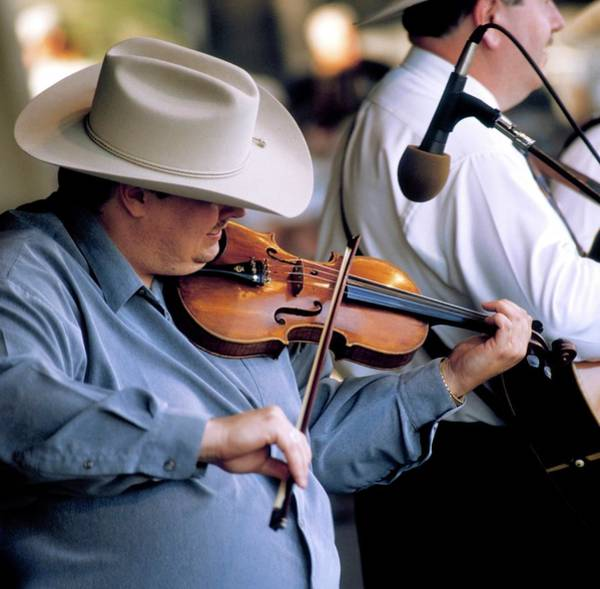 Bluegrass Photograph - Photo Of Fiddle Player And Bluegrass by David Redfern