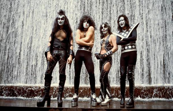 Peter Criss Wall Art - Photograph - Photo Of Gene Simmons And Kiss And by Steve Morley