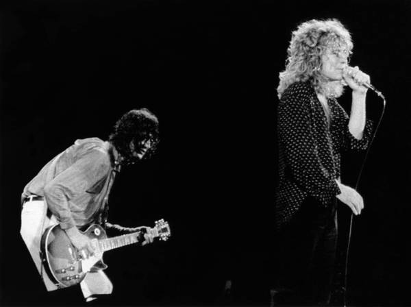 Photograph - Photo Of Jimmy Page And Robert Plant by Graham Wiltshire