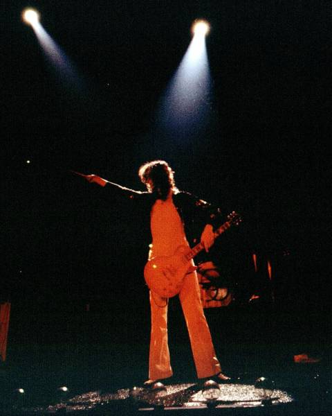 Jimmy Page Photograph - Photo Of Jimmy Page by Larry Hulst