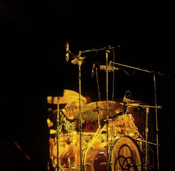 Photograph - Photo Of John Bonham And Led Zeppelin by David Redfern